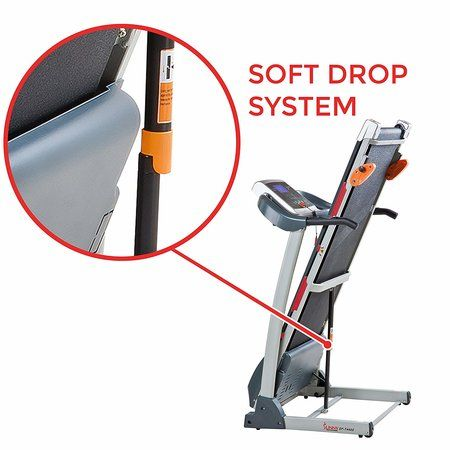 Sunny Health & Fitness Treadmill with Soft Drop System