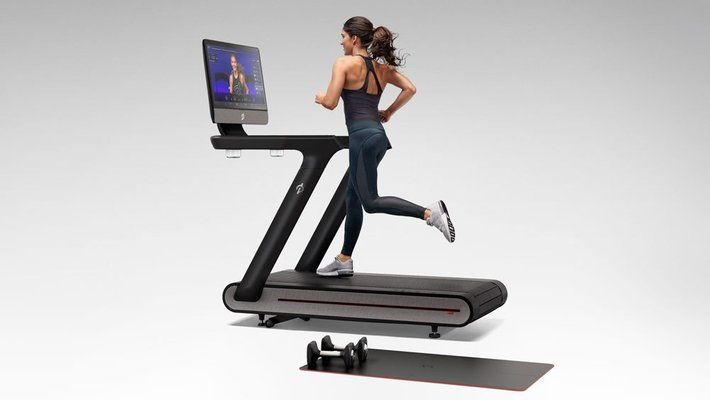 Treadmill with TV