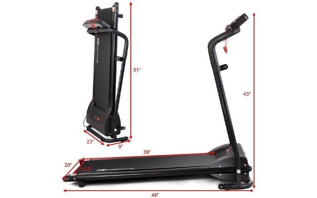 Goplus Compact Folding Treadmill
