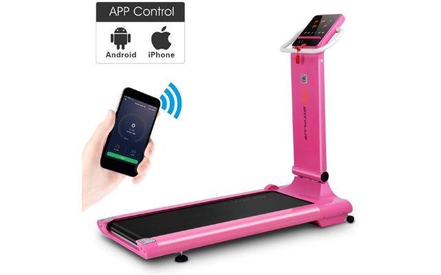 Goplus Electric Folding Treadmill (Pink)