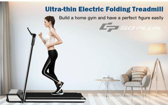 Goplus Ultra Thin Folding Treadmill
