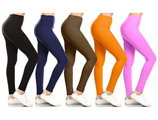 High Waisted Solid Yoga Leggings