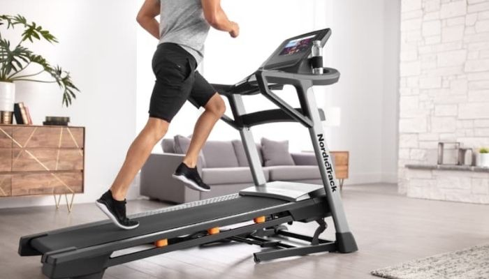 Treadmill with Power Incline