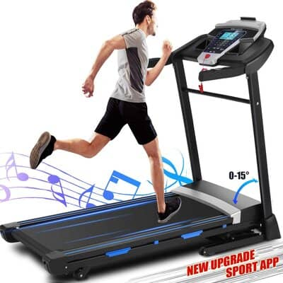 Ancheer Automatic Incline Folding Treadmill