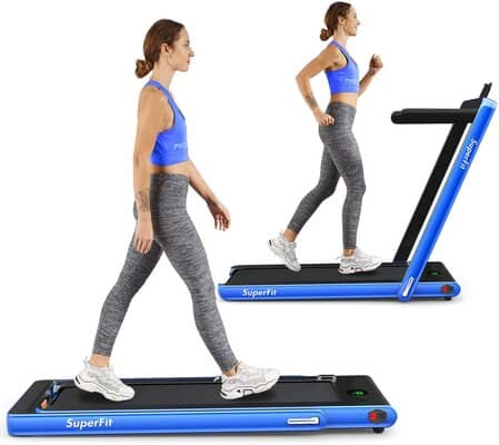 Goplus 2-in-1 Folding Treadmill